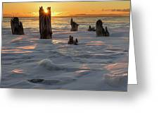 Early March Sleeping Giant Sunrize Greeting Card