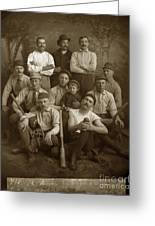 Early Monterey Baseball Team Circa 1895 Greeting Card