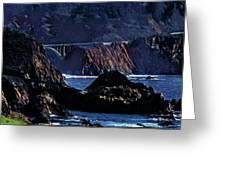Early Morning At Bixby Creek Bridge Greeting Card