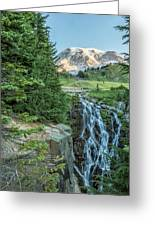 Early Morning At Myrtle Falls Greeting Card