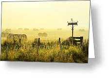 Early Morning At The Farm Greeting Card
