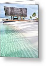 Early Morning At The Maldivian Resort 1 Greeting Card