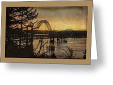 Early Morning At The Yaquina Bay Bridge  Greeting Card