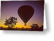 Early Morning Balloon Ride Greeting Card