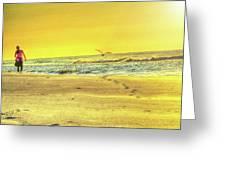 Early Morning Beach Walk Greeting Card