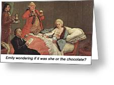 Early Morning Chocolate Greeting Card