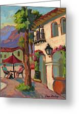 Early Morning Coffee At Old Town La Quinta Greeting Card