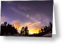 Early Morning Colorful Colorado Milky Way View Greeting Card
