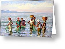 Early Morning Fishing Greeting Card by Roelof Rossouw