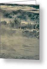 Early Morning Frost On The River Greeting Card