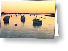 Early Morning In Chatham Harbor Greeting Card