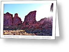 Early Morning Mystery Valley Colorado Plateau Arizona 05 Text Greeting Card