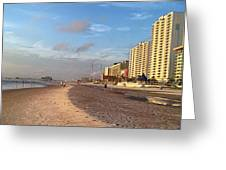 Early Morning On Daytona Beach Greeting Card