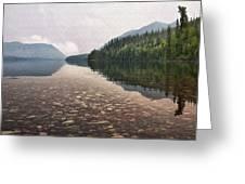 Early Morning On Lake Mcdonald II Greeting Card
