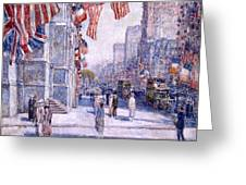 Early Morning On The Avenue In May 1917 - 1917 Greeting Card