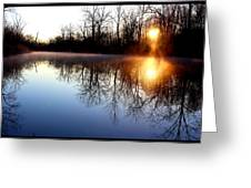 Early Morning On The Canal Greeting Card
