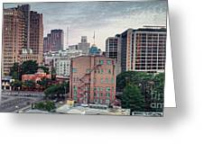 Early Morning Panorama Of Downtown San Antonio Skyline And Architecture - Bexar County Texas Greeting Card