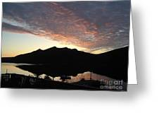 Early Morning Red Sky Greeting Card