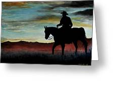 Early Morning Ride Greeting Card