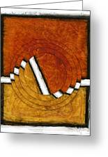 Early Morning Rounds Abstract Greeting Card