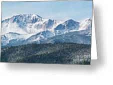 Early Morning Snow On Pikes Peak Greeting Card