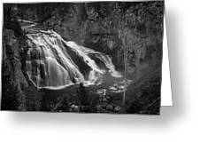 Early Morning Steam Falls Greeting Card