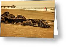Early Morning Tybee Beach Greeting Card