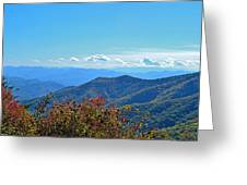 Early Mountain Autumn Greeting Card