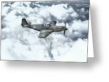 Early P-51 Mustang Fighter  Greeting Card by Randy Steele