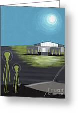 Early Painting Father And Son Aliens Greeting Card