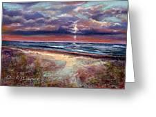 Early September Beach Greeting Card
