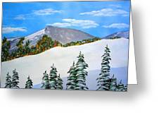Early Sierra Snow At Ridgeline Greeting Card