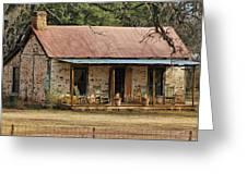 Early Texas Farm House Greeting Card