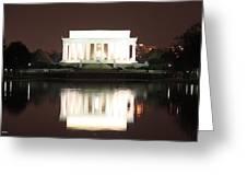 Early Washington Mornings - Lincoln Reflecting Greeting Card
