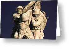 Early Washington Mornings - Team Iwo Jima Greeting Card