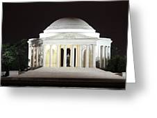 Early Washington Mornings - The Jefferson Memorial Greeting Card