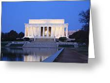 Early Washington Mornings - The Lincoln Memorial Greeting Card