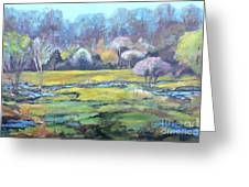 Early Wet Spring Greeting Card