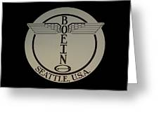 Early Winged Boeing Logo Greeting Card