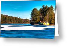 Early Winter On Old Forge Pond Greeting Card