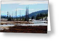 Early Winter On The Yellowstone Greeting Card