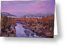 Early Winter Sunset Greeting Card