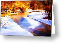 Early Wyoming Snow Greeting Card