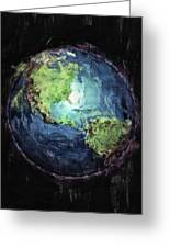 Earth And Space Greeting Card