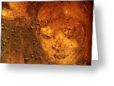 Earth Face Greeting Card