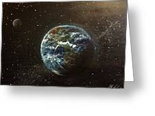 Earth From Above  Greeting Card
