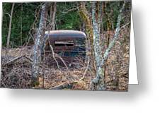 Earth Reclaims A Truck Greeting Card