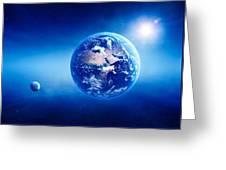 Earth Sunrise Deep Space Greeting Card
