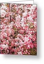 Earth Tones Apple Blossoms  Greeting Card