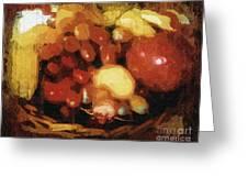 Earthtone Fruit Fresco Greeting Card